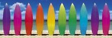 158X53CM COLOURS OF THE RAINBOW DOOR POSTER SURFBOARDS BEAPICTURE PRINT NEW