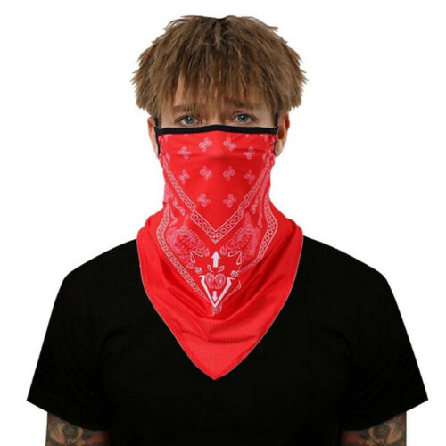 Details about  /Unisex Women Mens Breathable Triangle Bandana Half Face Scarf Neck Cover Scarf