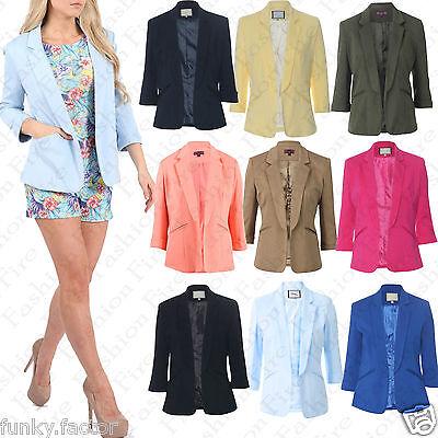 Womens Ladies Celeb Inspired Tailored Fitted Blazer Ladies Jacket Top Uk 8-16***