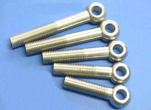 Lot 10 Metric M10*40 mm 201 Stainless steel eyelet bolt