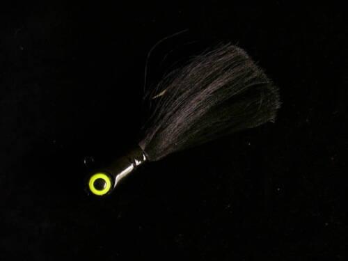 Black Bucktail Jig 8 oz