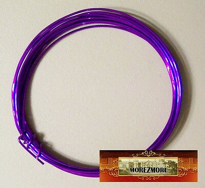 M00439a MOREZMORE Soft Fun Wire 18 GA PURPLE Craft Aluminum Metal Wings A60