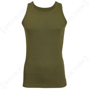 new product 09261 15e4d Image is loading Olive-Green-Tank-Top-Premium-Vest-Army-Military-