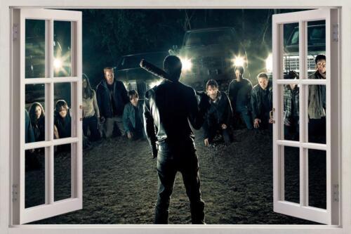 The Walking Dead 7 Negan 3D Window Decal Wall Sticker Home Decor Art Mural H686