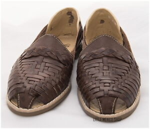 f7f4b075d69a Image is loading MEXICAN-SANDALS-WOMENS-LEATHER-HUARACHE-SANDALS-DARK-BROWN-