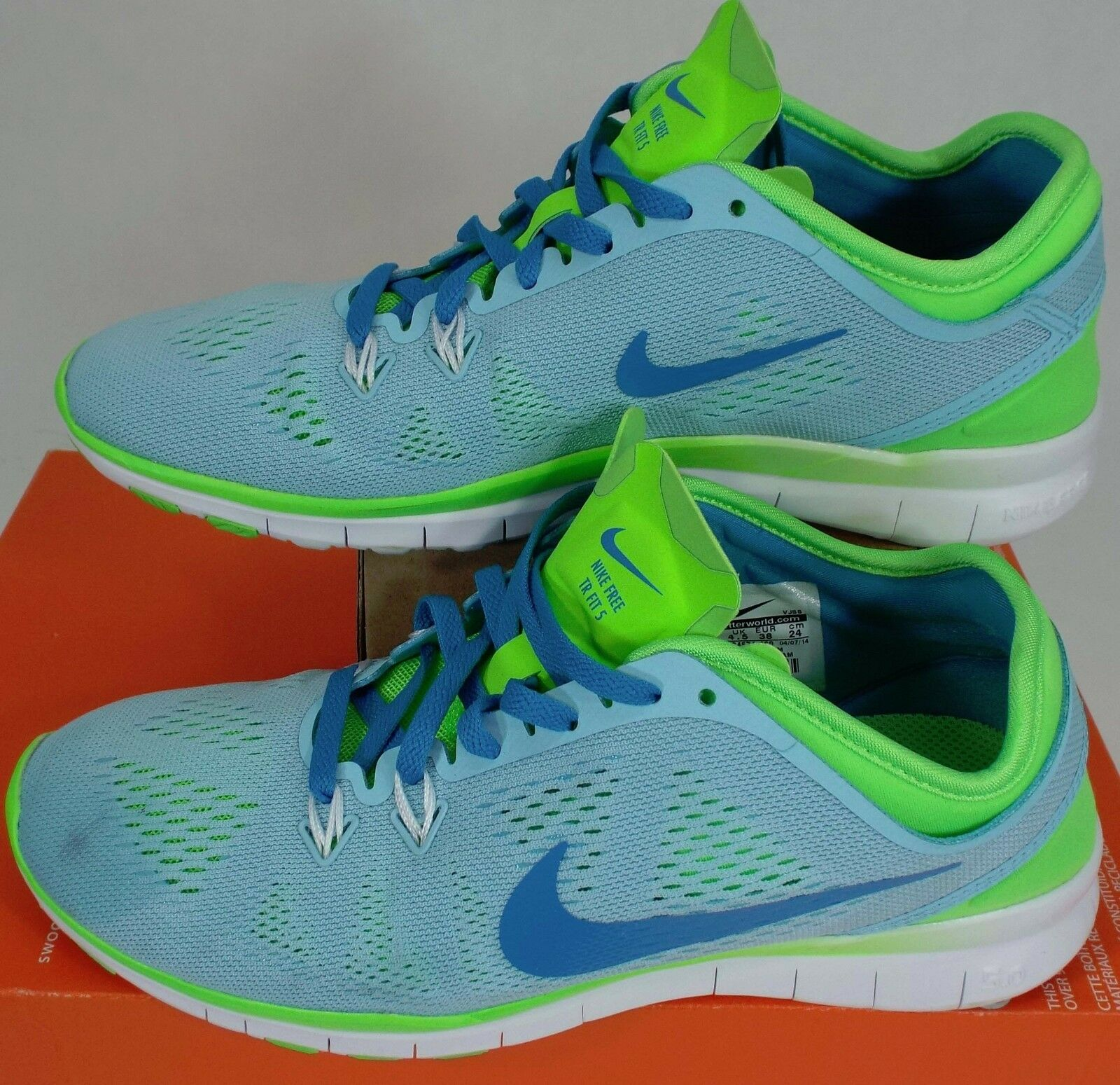 RARE SAMPLE Womens 7 NIKE Free 5.0 TR Fit 5 Blue Shoes Price reduction The latest discount shoes for men and women