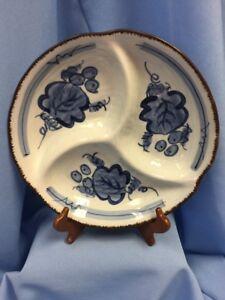 Vintage Japanese Sushi Rice Soup Bowl Pottery Flounder Fish Signed Great Art!