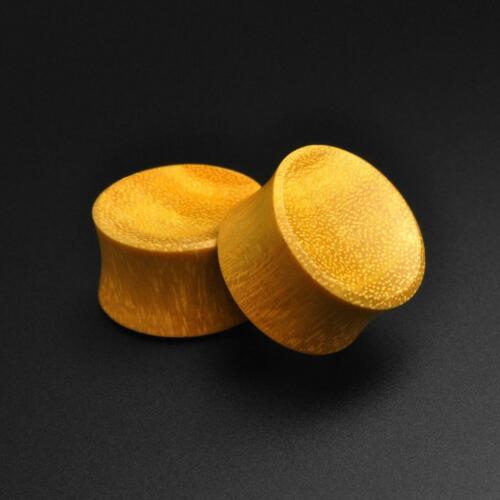 Details about  /Wooden Ear Gauges Plugs Jackfruit Wood Double Flare Concave Plug