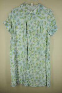 e028a9600f Vintage Sears Women s White   Blue Floral Cotton Poly Pajama Night ...