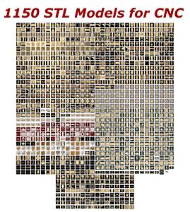 NEW-1150-3d-STL-Models-for-CNC-Compatible-with-Artcam-Aspire-Cut3d-3d-Printers