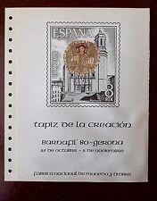 DOCUMENTO FNMT NUM 13 1980 BARNAFIL TAPIZ DE LA CREACIÓN GERONA CON HB