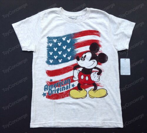 DISNEY Store TEE for Boys MICKEY Mouse AMERICAN Flag JULY T Shirt PICK Size NWT