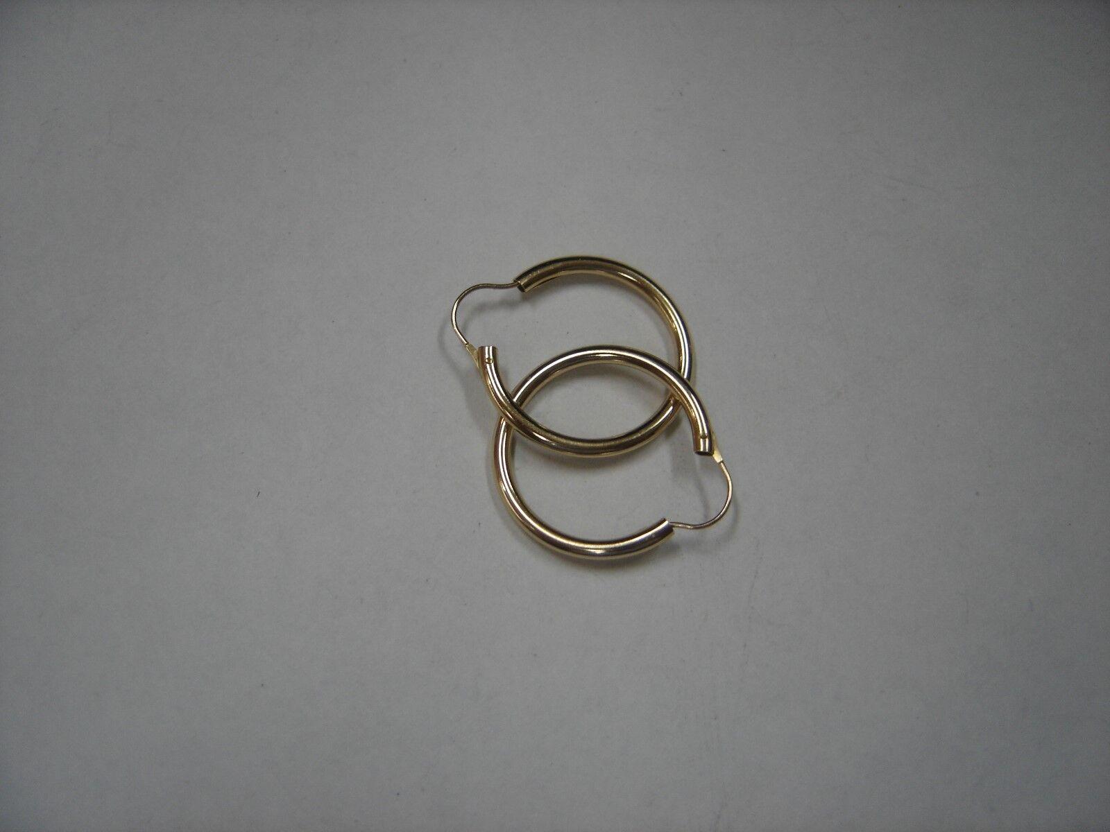 14K yellow gold hoop earrings 221-J