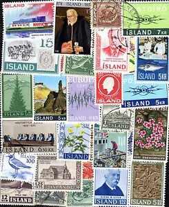 Islande - Iceland Collections De 25 à 800 Timbres Différents