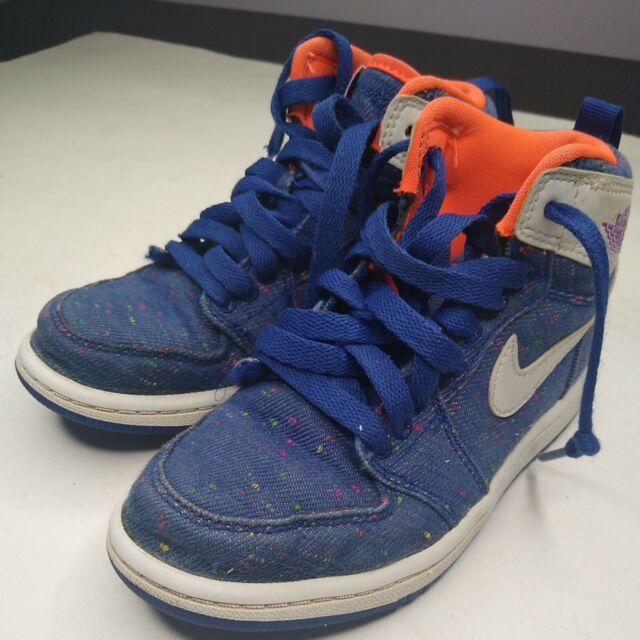 Jordan 1 Retro High Royal Blue Denim 1y Kids Youth Shoes 705321-411