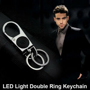 Car-Metal-Light-Keychain-LED-Light-Ring-Business-Men-Chic-Key-Pendant