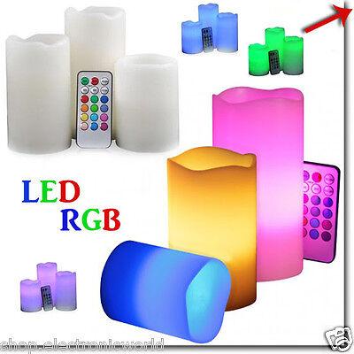 Candela Luce A Led Rgb Candele Multicolori Telecomando Decorazioni Casa