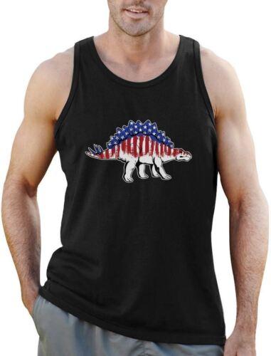 American Stegosaurus USA Flag 4th of July Singlet Patriotic