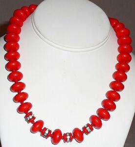 Vintage-Czechoslovakian-beaded-necklace-enhanced-with-rhinestone-rondelles