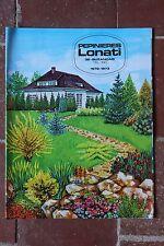 Ancien catalogue jardinage horticole pépinières LONATI1972 1973
