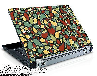 LidStyles RETRO PAISLEY HEART Vinyl Laptop Skin fits Dell Latitude E6400 E6410