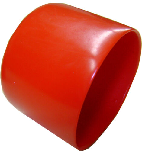 Lot of 2 Red Plastic Caps  - Fits 2 OD Tubing - Flexible End Cap 2.00