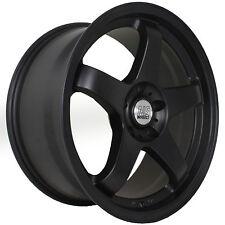 18 NS NSM01 +15 Flat Black Staggered Rims Wheels 5x114.3 For 96 Nissan 300zx TT