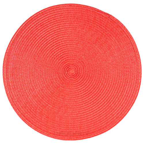 33cm Round Red Fabric Placemats Setting Place Mats Christmas Dining Room Table