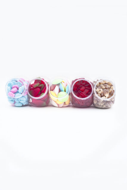 Plastic Sweet Jars Retro 650ml Vintage Candy Buffet Storage Jar Choose Quantity