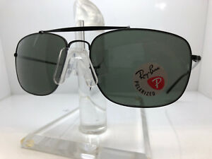 98d367c063 AUTHENTIC RAY BAN SUNGLASSES RB 3560 002 58 BLACK GREEN POLARIZED ...