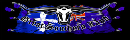 GREAT SOUTHERN LAND LONGHORN gloss laminated DECAL 1320MM BY 400MM UTE EUREKA