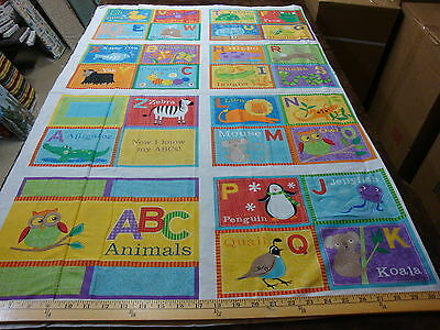100% cotton   Abc book  Panel  some With Instructions  10 panels as pictured