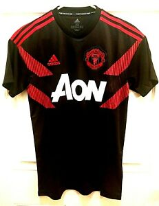 Details about Adidas Manchester United Home Prematch Jersey Black Red CW5824 Size XS