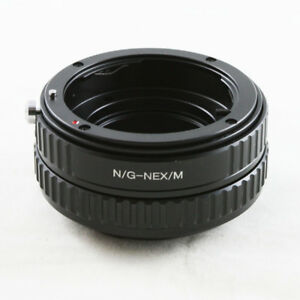 Nikon-F-G-AF-S-DX-lens-to-Sony-E-mount-NEX-adapter-Macro-focusing-helicoid-A6300