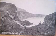 Postcard CARRICK-A-REDE Antrim Larriban Cliffs Northern Ireland Photochrom Grano
