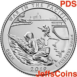 2019-P-D-S-War-In-The-Pacific-Guam-Island-Park-Quarter-PDS-Try-W-Mint-ATB-Best-3