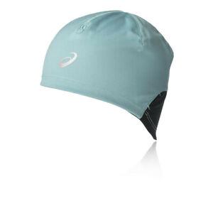 Asics-Unisexe-Hiver-Beanie-Bleu-Sport-Running-Chaud-Reflechissant-Leger
