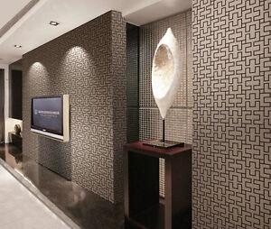3d Geometric Grid Textured Wallpaper Roll Tv Background