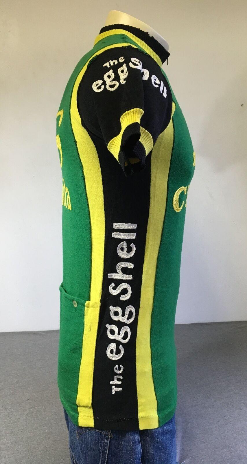 SANTINI Cycling Jersey Team GS Cicla Vita 80s Baleno Vtg Baleno 80s Wool ITALY Eggshell Sew 38daa4