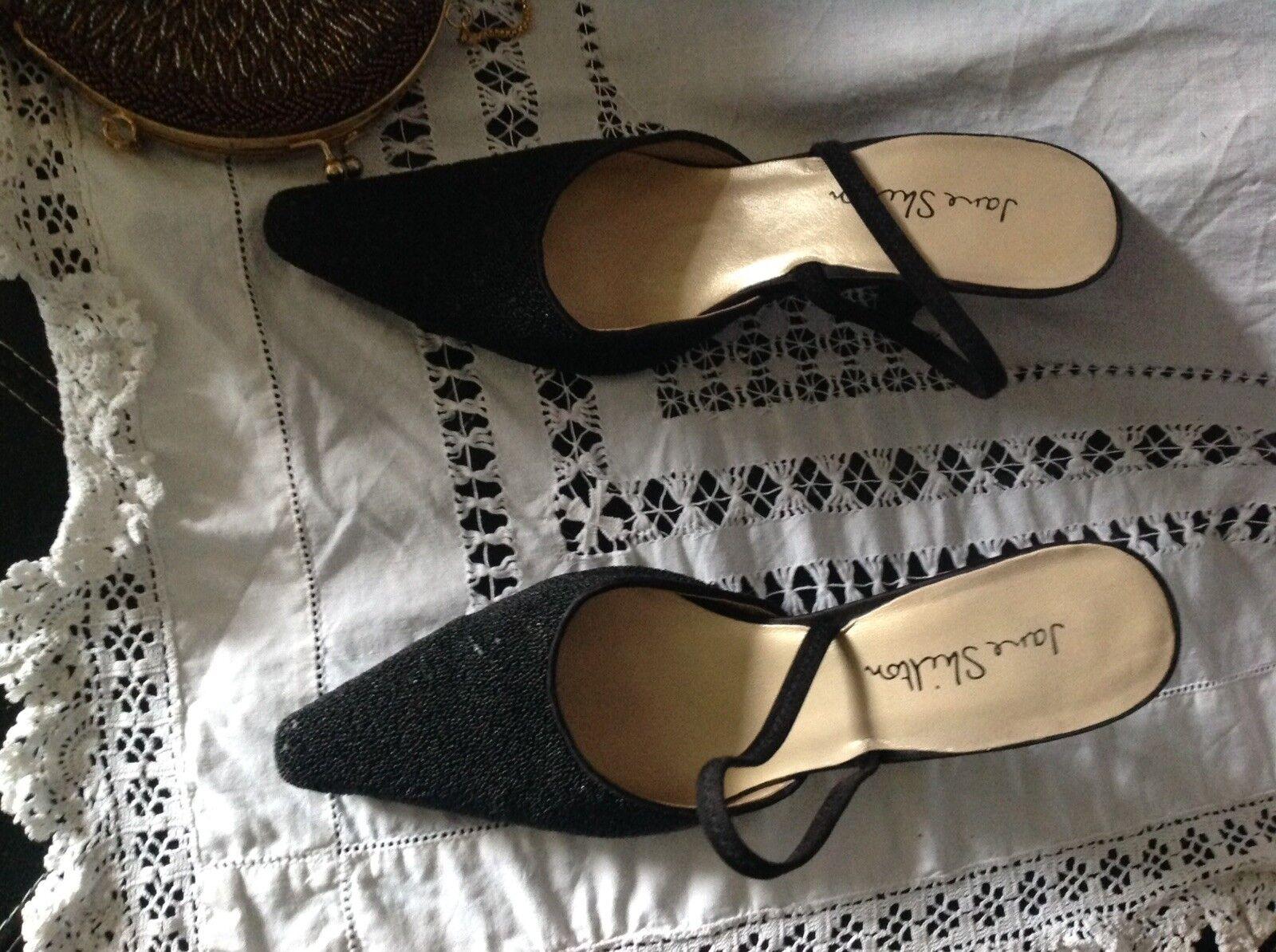 Femmes Noir Escarpins Chaussures Taille 5 Jane Shilton