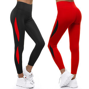 Leggings Yoga Fitness Leggins Jogging Trainingshose Sporthose Hosen Damen OZONEE