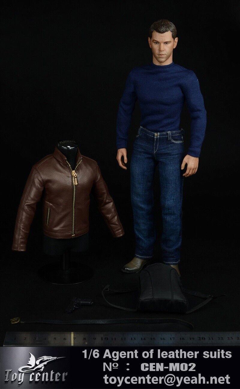Toy Center 1 6 Agent Of Leather Suits Set Set Set Male Clothes Accessory F 12'' Figure 7ba7d8