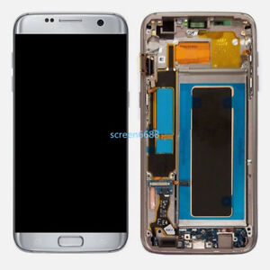 Lcd-Display-Touch-Screen-Telaio-Per-Samsung-Galaxy-S7-Edge-SM-G935F-Argento-Tool