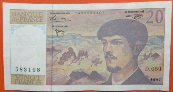 """Très Beau Billet De 20 Francs Type """" Debussy """" 1997 Disponible Dans Divers ModèLes Et SpéCifications Pour Votre SéLection"""
