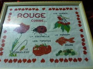 Collection Abécédaires, Déco, Cadre Sous Verre==== Le Rouge ModéLisation Durable