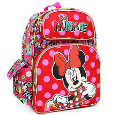 """Disney Minnie Mouse Large School Backpack 16"""" Book Bag - All Over Comic Book"""