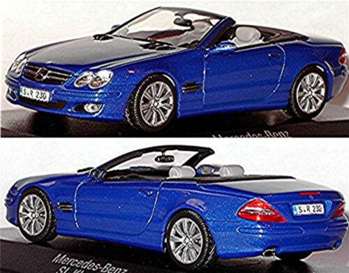 Mercedes SL Class R230 2001-06 blau blue metallic 1:43 Minichamps