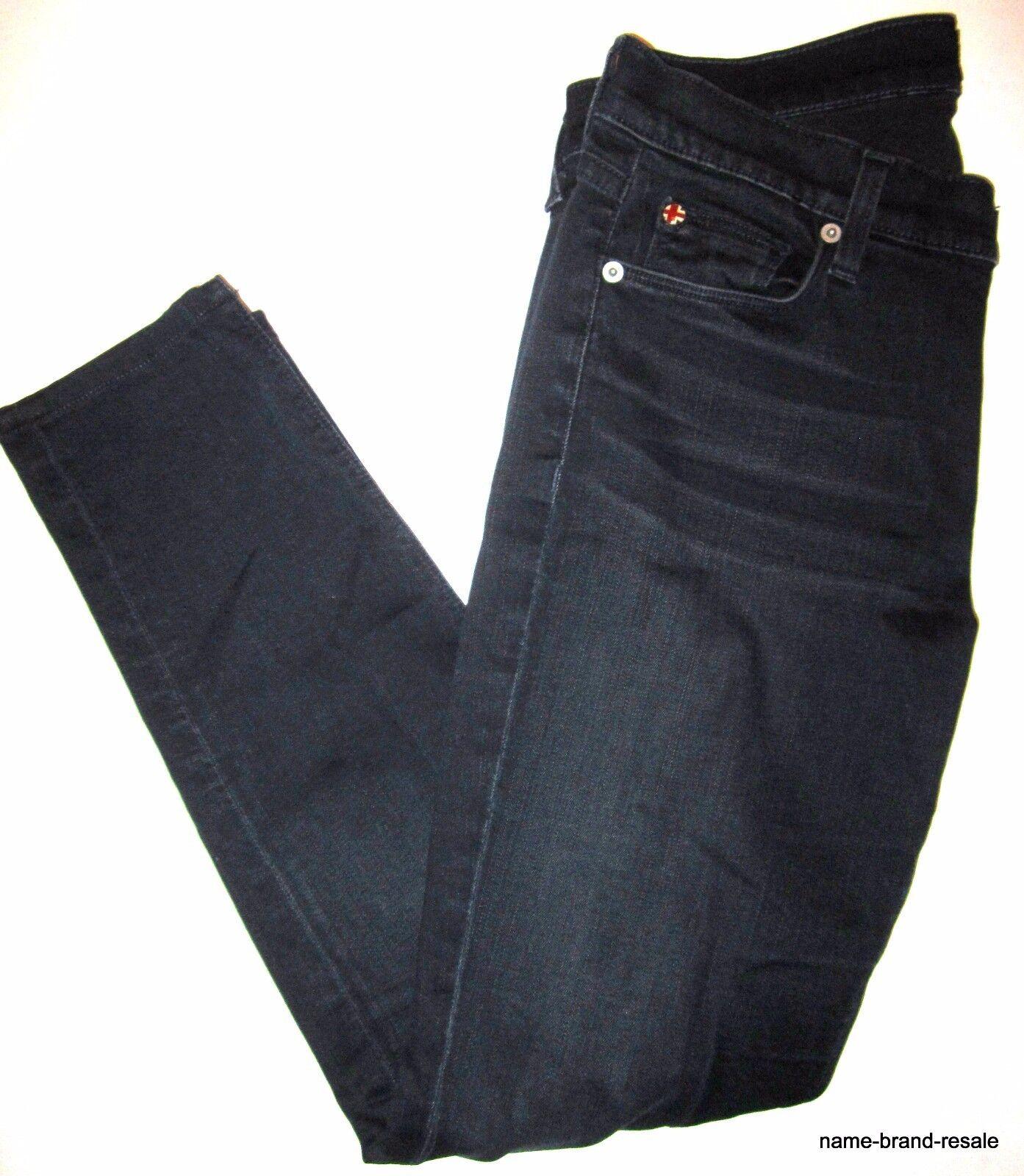 HUDSON Skinny JEANS damen 28 Dark Indigo Faded Wash SLIM Leg Designer Denim