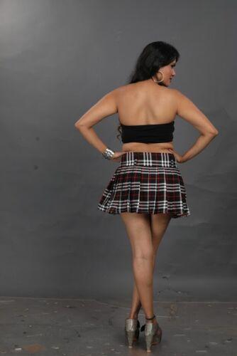 Women/'s Black High Pleated Skirt Ladies Micro Mini High Waist Size 6-24 094