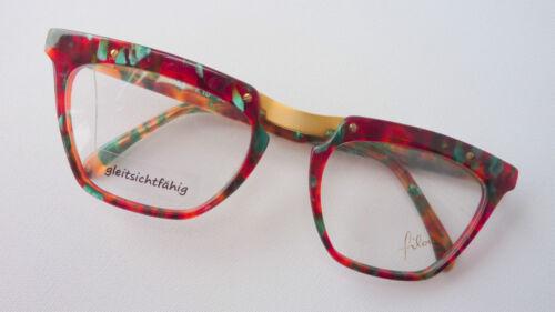 L Filou extrabreit Damenbrille Schmetterling braun grün bunt markant crazy Gr